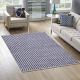 Grey and White, Stripe Pattern PEQURA