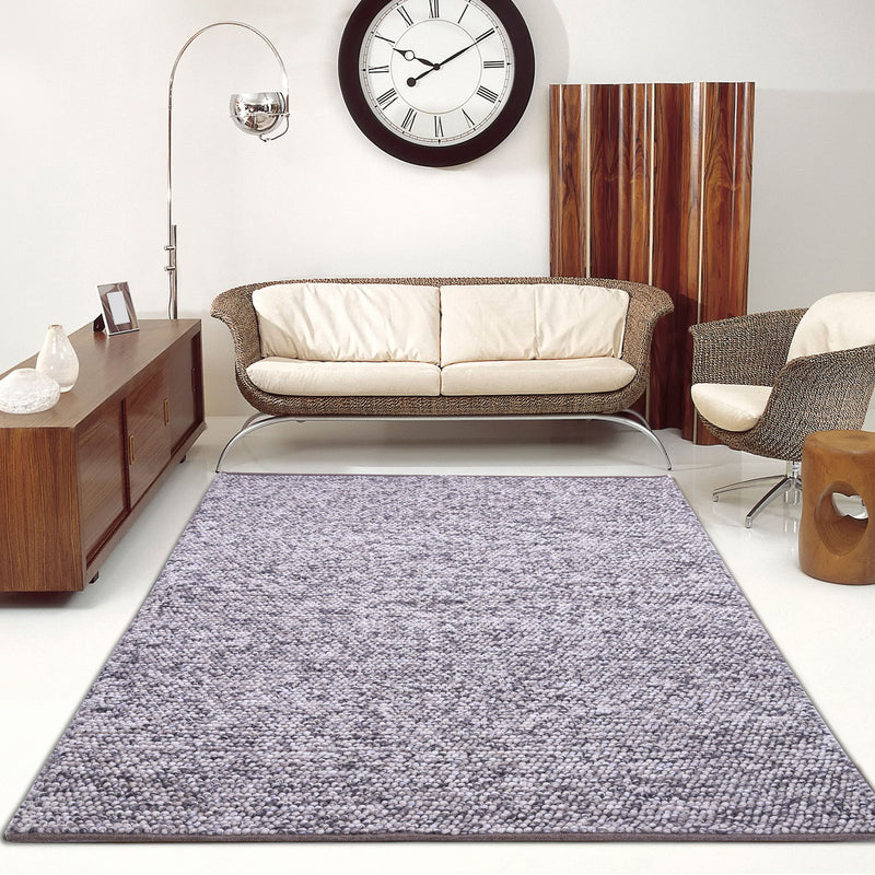 Grey, Abstract Pattern, Wool PEQURA Rug