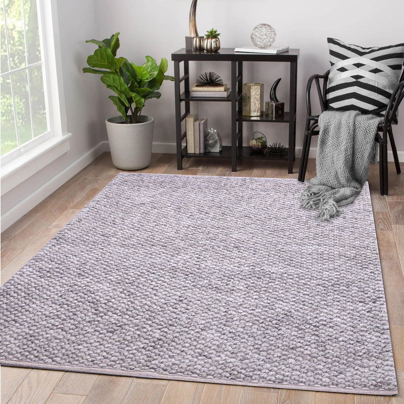 Natural Grey, Bubble Wool, PEQURA Rug