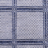 Blue and White, Check Pattern, Wool PEQURA Rug