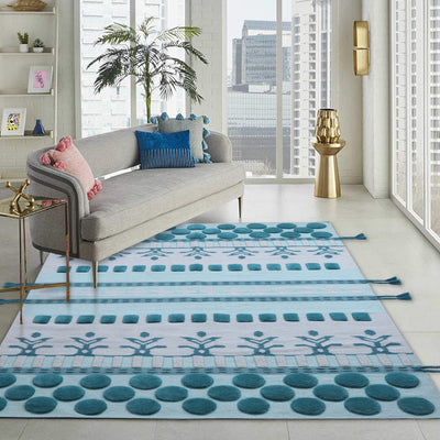 Green and Grey, Hand-tufted, Wool PEQURA Rug