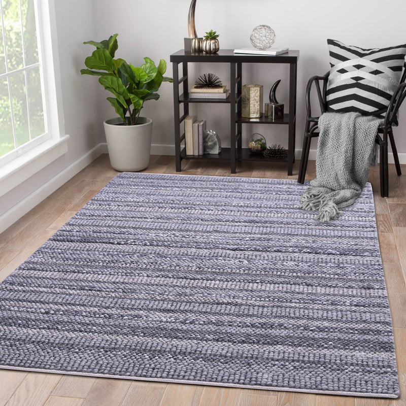 Grey, Hand-woven, Abstract PEQURA Rug