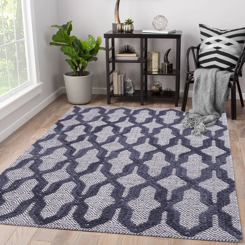 Natural Grey, Rectangle, Hand-woven PEQURA Rug