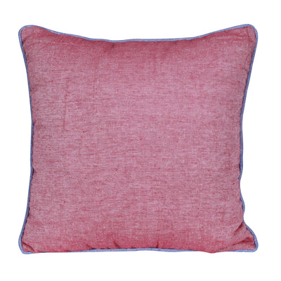 Plain Reversible Dual Side Pink Cushion Cover - Set of 2 Pcs