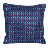 Blue Printed Patterned Handcrafted Cushion Cover