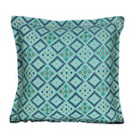 Aqua Blue Printed Patterned Traditional Cushion Cover