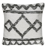 Geometric Black & White Wool Pattern Cushion Cover