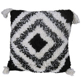 Geometric Cotton & Wool Pattern Embroidery Cushion Cover