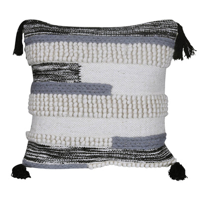 White/Grey Geometric Designer Cushion Cover