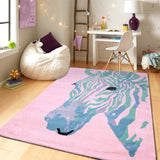 PEQURA Zebra multicolor Hand Tufted Wool Kids Carpet - Rectangle