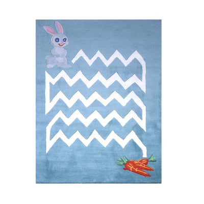 PEQURA Peter Rabbit Multicolor Hand Tufted Wool Kids Carpet - Rectangle