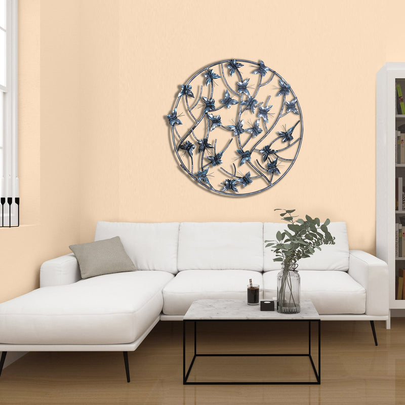 ROUND BUTTERFLY WALL DÉCOR