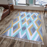 PEQURA Multicolor Cotton Floor Covering Akira Rug/Runner/Door Mat