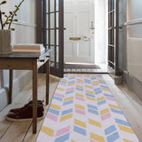 PEQURA Multicolor Cotton Floor Covering Jora Rug/Runner/Door Mat