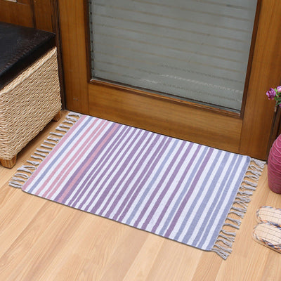 PEQURA Multicolor Cotton Floor Covering Daniel Rug/Runner/Door Mat