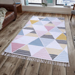 PEQURA Multicolor Cotton Floor Covering Retro Rug/Runner/Door Mat