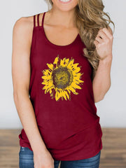 Sunflower Printed Tank Top