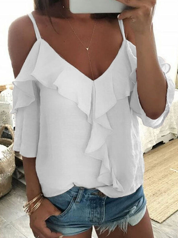 Straps Backless T-shirt