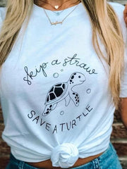 SKIP A STRAW SAVE A TURTLE T-shirt