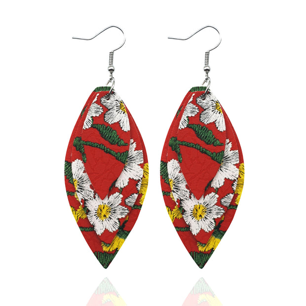 Casual Style Leather Earrings
