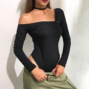 Solid Color Jumpsuits Long Sleeve T Shirt