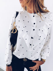 Spot Button Long Sleeve Shirt