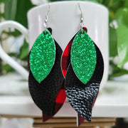 Casual Style Leopard Leather Earrings