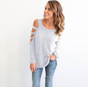 Sexy Hollow Out Long Sleeve T-Shirts
