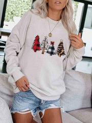 Christmas Tree Leopard Sweatshirt
