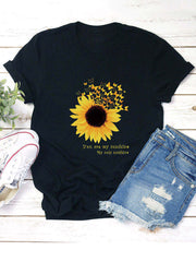 Sunflower Letters Printed T-shirt