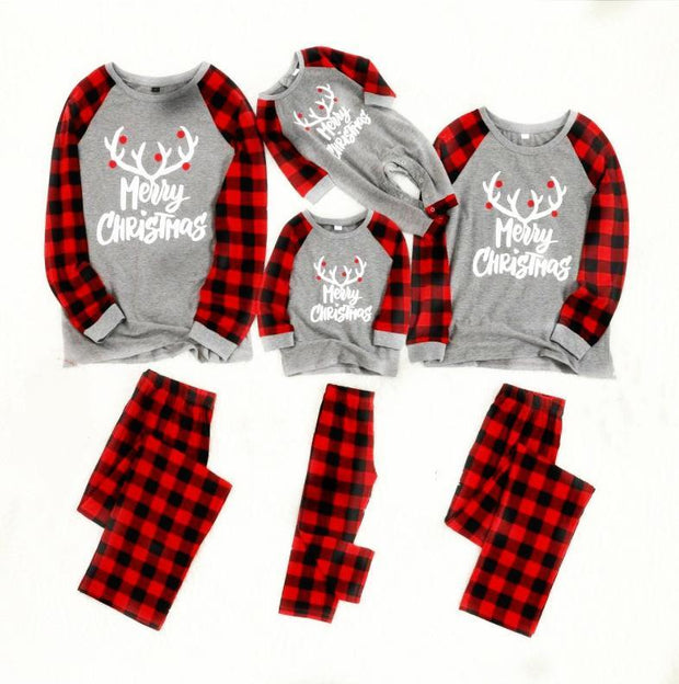 2019 Christmas Printed family parent-child Suit