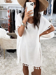 Casual Style  Solid Color Dress