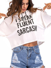 Short Sleeves Letters Printed T-shirt