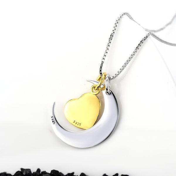 I Love You To The Moon And Back 925 Sterling Silver Necklace For Mother