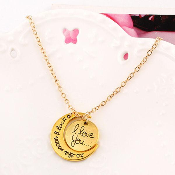 I Love You To The Moon And Back Alloy Fashion Necklace