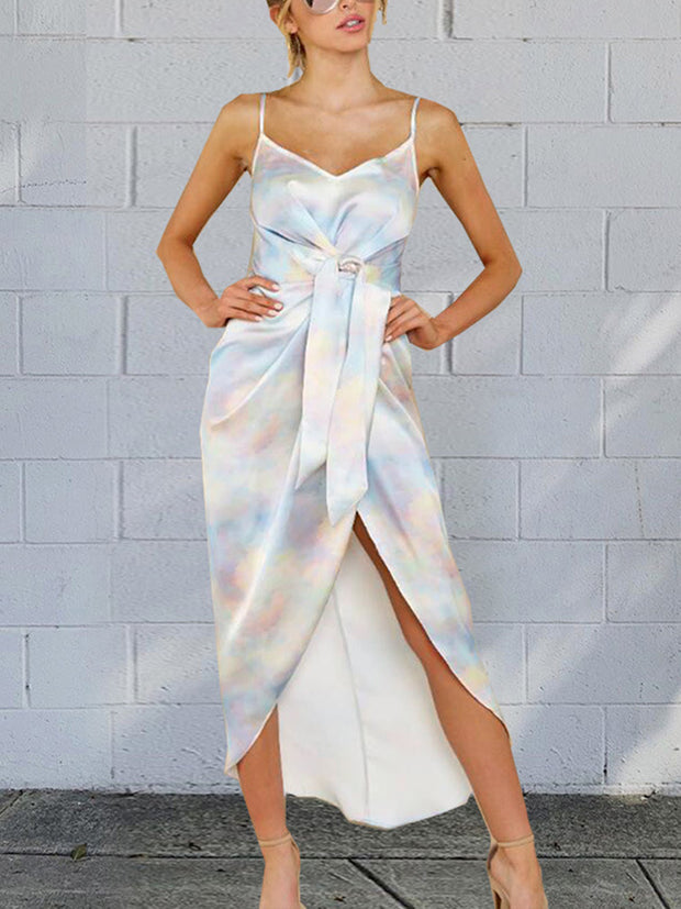 Irregular Tie-dye Bodycon Dresses