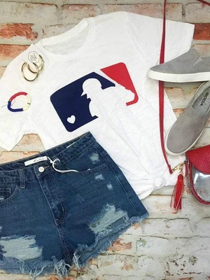 Love Baseball Cotton T-shirt