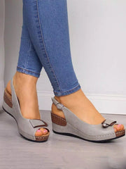 The Fish's Mouth Cingulate Wedge Sandals