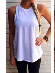 Sleeveless Backless Tank Top