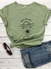 Keep Our Sea Plastic Free T-shirt