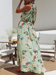 Bohemian Style Sleeveless Floral Dresses