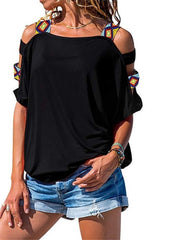 Casual Style Hollow Out T-shirt