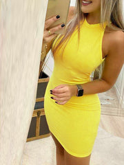 Halter-style Backless Pack hip Bodycon Dresses