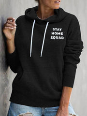STAY HOME SQUAD Letters Printed Hoodies