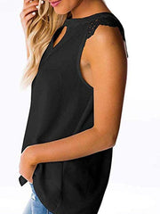 Sleeveless Solid Color T-shirt
