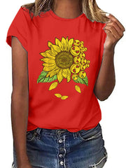 Sunflower Printed T-shirt