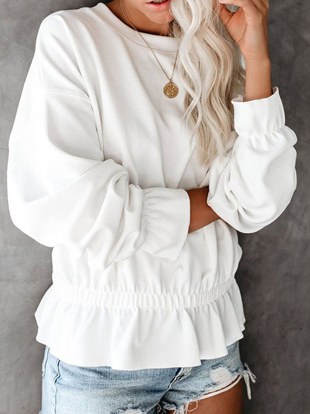 Round Neck Waist Blouse