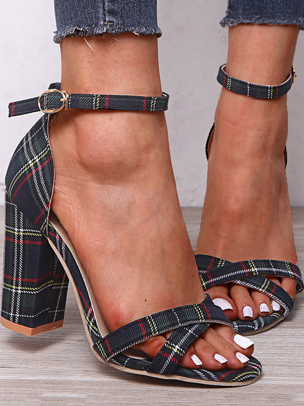 Fashion High Heel Open-toe Buckled Sandals