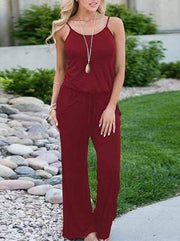 Solid Color Loose Jumpsuits