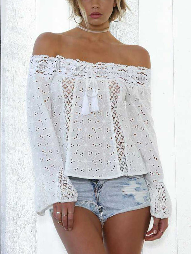 Lace Splicing Shirt